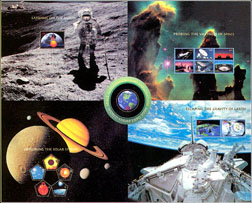 Space Exploration Sheet of 5